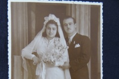 OLD WEDDING PHOTOGRAPH 7<p> From flea market. Translation: To our beloved little nephews for having us always. Fofi and Theodorakis.</p>