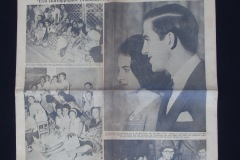 NEWSPAPER<p> (18th September 1964) Front page of a newspaper celebrating the Greek Royal Wedding.</p>
