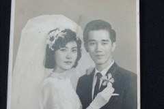 CHINESE WEDDING PHOTOGRAPH 2<p> Found in a  Penang flea market, this wedding photograph has been inscribed on the  back with the date 1965.</p>
