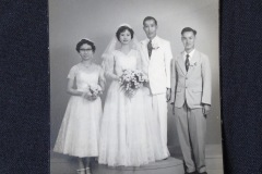 CHINESE WEDDING PHOTOGRAPH 1<p> Found in a  Penang flea market, this wedding photograph has been inscribed on the  back with the date 1958.</p>
