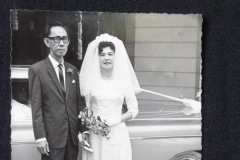 CHINESE WEDDING PHOTOGRAPH 3<p> Found in a  Penang flea market, this wedding photograph has been inscribed on the  back with the date 1965.</p>