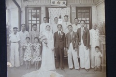 CHINESE WEDDING GROUP PHOTOGRAPH,  C.1930S -1940S<p> This undated Chinese wedding photo was found in a  Penang flea market.</p>