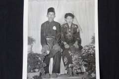 MALAY WEDDING PHOTOGRAPH 2 <p>Found in a Penang flea market, this Malay wedding photograph shows a couple in more traditional Malay attire.  It probably  dates from the 1970s.</p>
