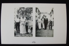 PENANG CHINESE WEDDING PHOTOGRAPH 2 <p>Photograph by Goh Kong Chuan, shown by permission of  Goh Hun Meng. L: The bride, accompanied by her parents, is ready to get into the bridal car at Balik Pulau, Penang, 1971. R: Bride and bridegroom entering Khoo Kongsi, accompanied by their wedding planner and best man.</p>