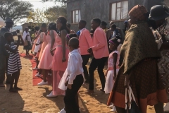 DANCES AT THE FEAST<p> The bridesmaids and groomsmen accompany the  bride and groom in a series of choreographed dances  at the wedding feast. Practice sessions for these  dances run for months before the wedding.</p>